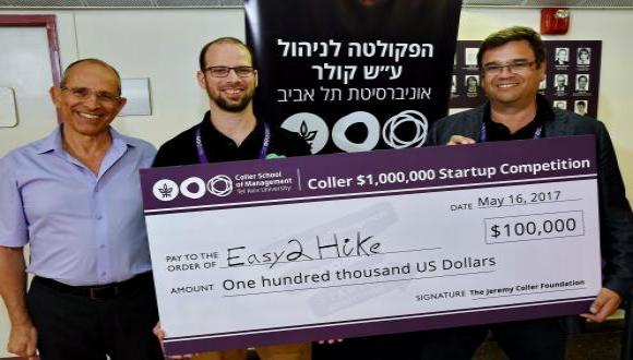 Easy2Hike Wins a $100,000 Investment from the Coller School of Management