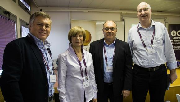 Nathan Hetz, Prof. Leo Leiderman, Prof. Orly Yeheskel, Henrique Cymerman