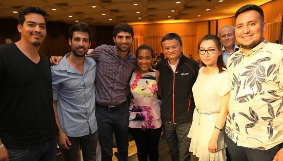 Jack Ma meeting TAU students (photo: Chen Galili)