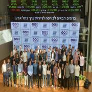 Opening Bell Ceremony at TASE to Celebrate the Launching of the TA-Family Index and the Start of the Academic Year at Tel Aviv University's Coller School of Management.